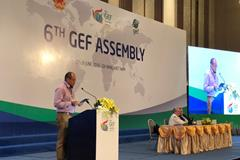 BRS Executive Secretary conducts live interview at The GEF Assembly, Danang, Viet Nam