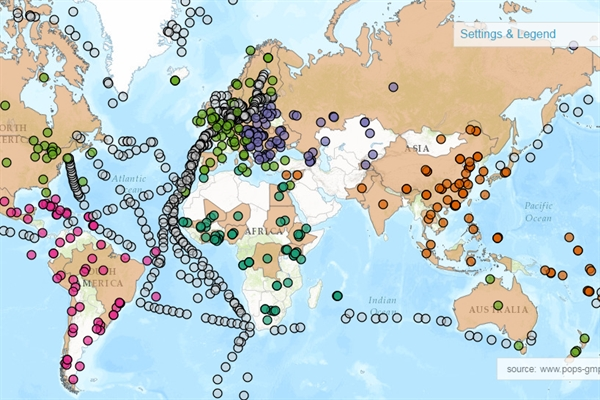 Online Stockholm Convention interactive maps show POPs levels worldwide