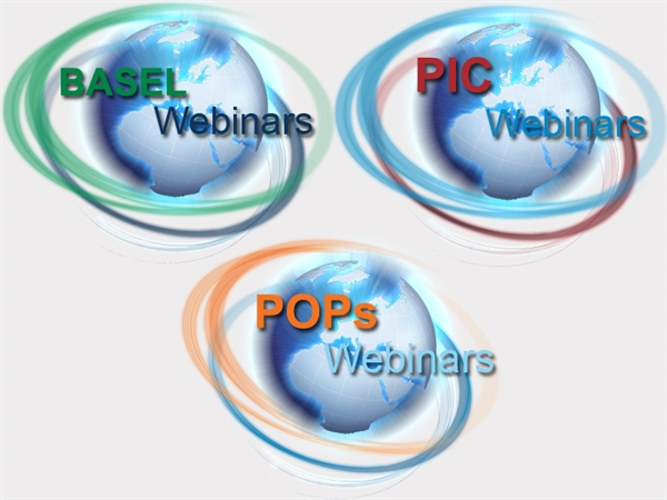 Webinars to focus on 2015 COPs, Endosulfan, E-waste, National Reporting, and NIP updating